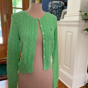 Ralph Lauren Sport Green Cable Knit Sweater sz S